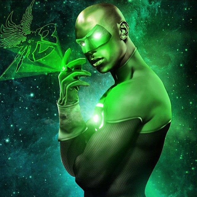 tyrese gibson showing hand green lantern jobs for role 2015