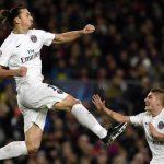 Zlatan Ibrahimovic rising to france ligue 1 soccer 2015 images