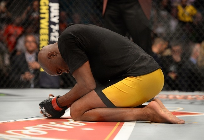 anderson silva cries after winning ufc 183 nick diaz mma fight 2015