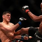 anderson silva kicking nick diaz in side ufc 183