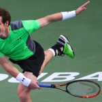 andy murray slamming borna corics balls for dubai tennis championships 2015