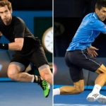 andy murray pounding novak djokovic for australian open