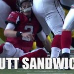 atlanta falcons matt ryan gets a butt sandwich game from patriots 2015