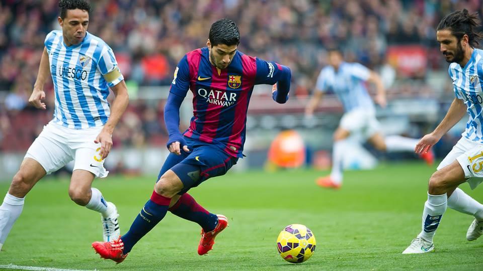barcelona va malag boys balls run soccer la liga