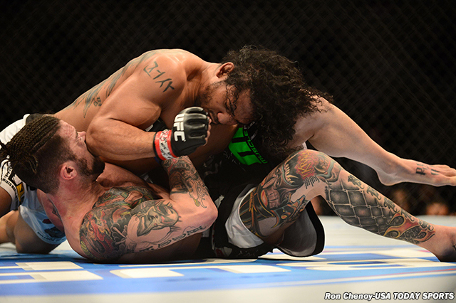 benson henderson cotch smells with brandon thatch ufc fight 60 2015