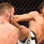 benson henderson kicks brandon thatch in head for ufc fight 60 2015