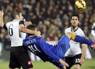 cesena defeats juventus serie a game soccer 2015 images