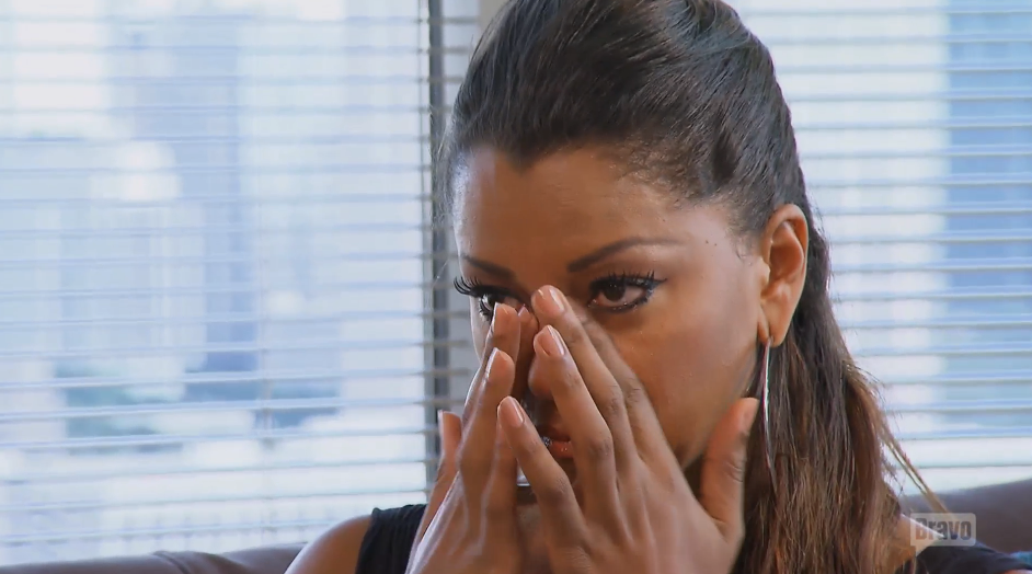 claudia jordan crying about mean girls on real housewives of atlanta 2015 images