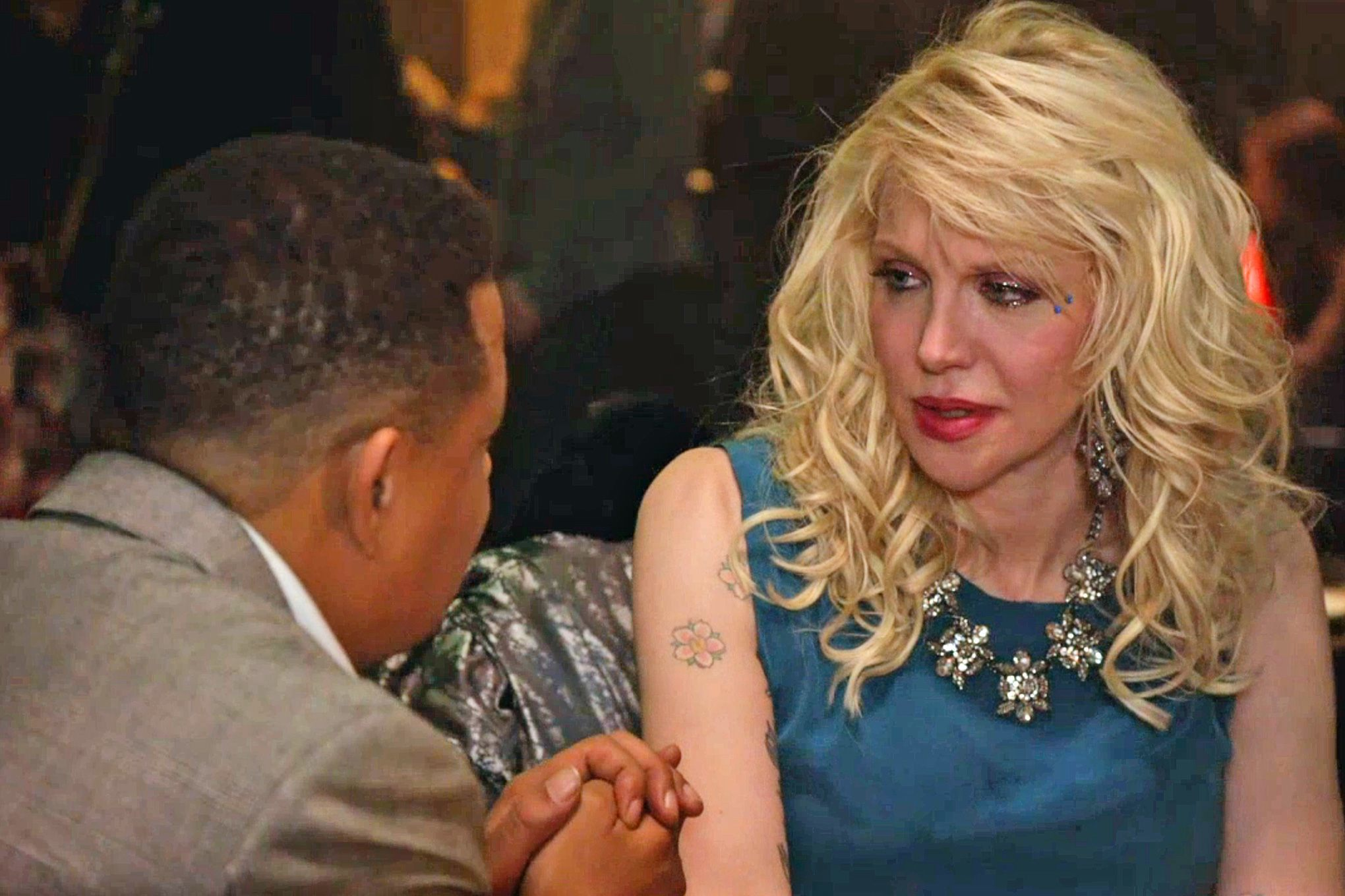 courtney love with lucious on empire 2015