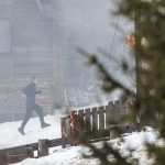 daniel craig running stunt for james bond spectre film 2015