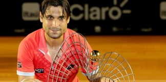 dave ferrer with rio open title trophy beats fabio fognini