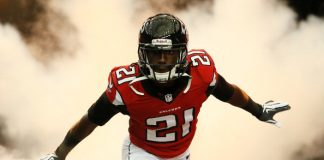 desmond trufant great cornerback for atlanta nfl falcons 2015