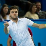 gilles simon serving back to gael monfils atp marseilles 13 open 2015
