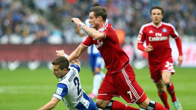 hamberger vs hannover win soccer 2015 imagtes