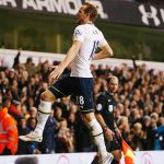 harry kane jumping high for arsenal soccer balls 2015 images