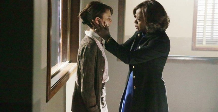 how to get away with murder annalise comforting crazy woman 2015
