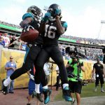 jacksonville jaguars celebrate new york giants win 2015 images