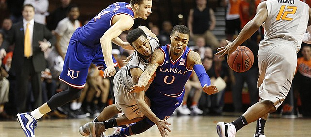 jayhawks get crushed by oklahoma state basketball 2015 images