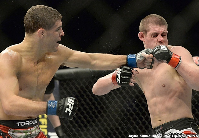 joe lauzon gets left hook from al iaquinta ufc 183 fights 2015