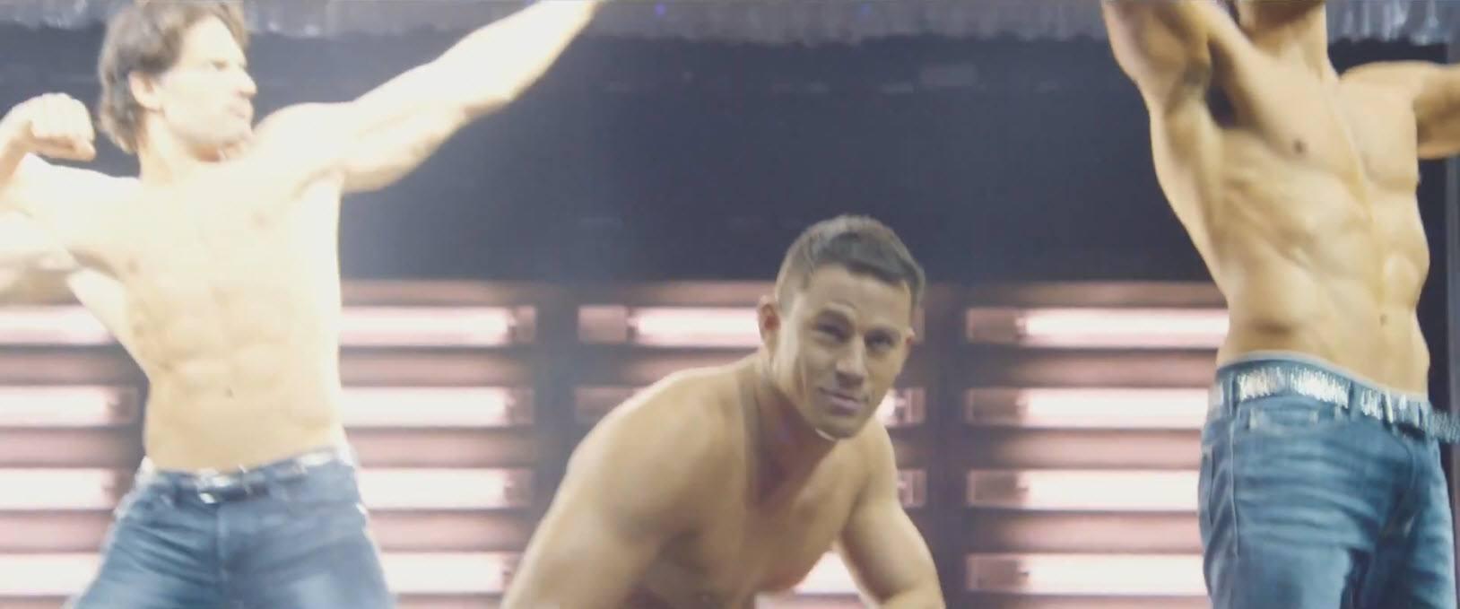 joe manganiello with channing tatum stripping down for magic mike xxl 2015