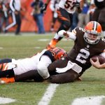johnny manziel blown down by bengals on cleveland browns 2015