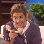 justin beiber douche prank calls fan on ellen degeneres show 2015 images