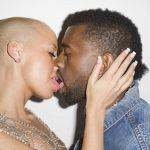 kanye west frenching amber rose for kim kardashian