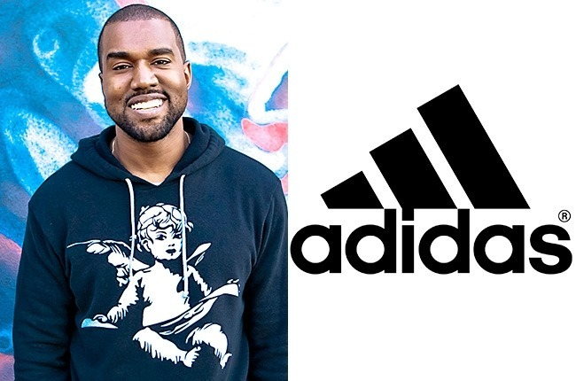 kanye west used grammys beck for addidas line launch 2015