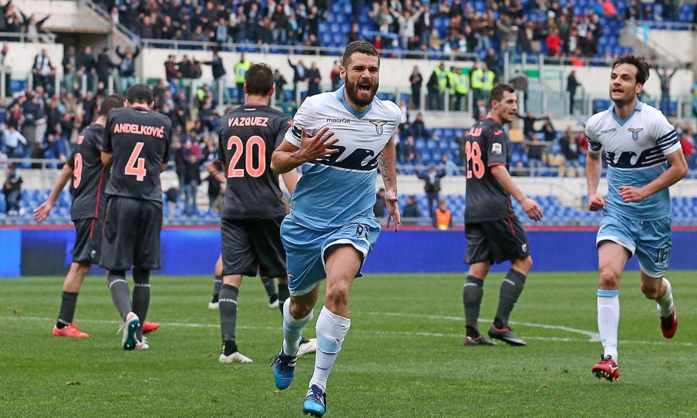 lazio beats palermo serie a soccer 2015 images
