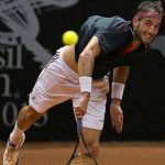 luca vanni slamming serve at brasil tennis open 2015 images