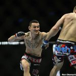 max holloway lunges for cole miller ufc fight night 60 image 2015