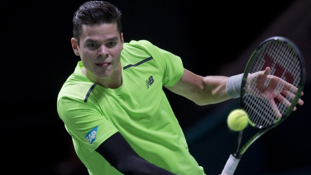 miloa raonic battles bulge hard for stan wawrinka rotterdam tennis 2015
