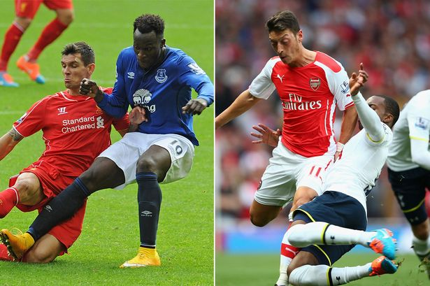 north london vs merseyside derby premier league 2015 images