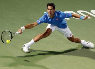 novak djokovic beats marsel ilhan dubai tennis open 2015 images