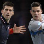 novak djokovic beats milos raonic paris masters 2014 images