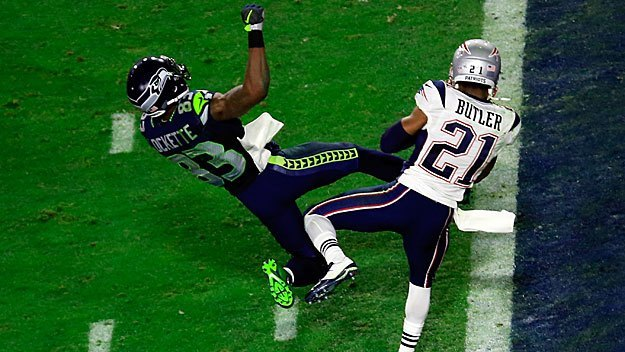patriots malcolm butler intercepts russell wilson pass super bowl xlix