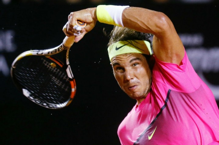 rafael nadal showing tennis bulge for federico delbonis 2015 images