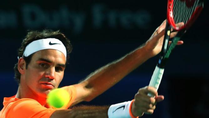 roger federer perfect form for beating richard gasquet dubai tennis open 2015