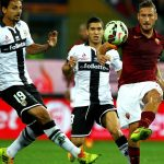roma beats parma serie a soccer 2015 images