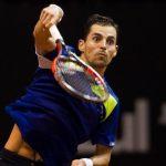 santiago giraldo tummy show bulge for pablo cuevas brasil tennis open 2015