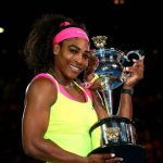 serena williams wins australian open cup 2015 images