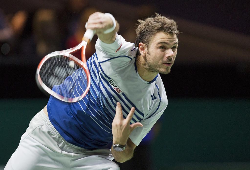 stanislas wawrinka kills tomas berdych at atp rotterdam tennis tourni 2015 images