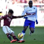 torino beats sampdoria serie a soccer 2015 images
