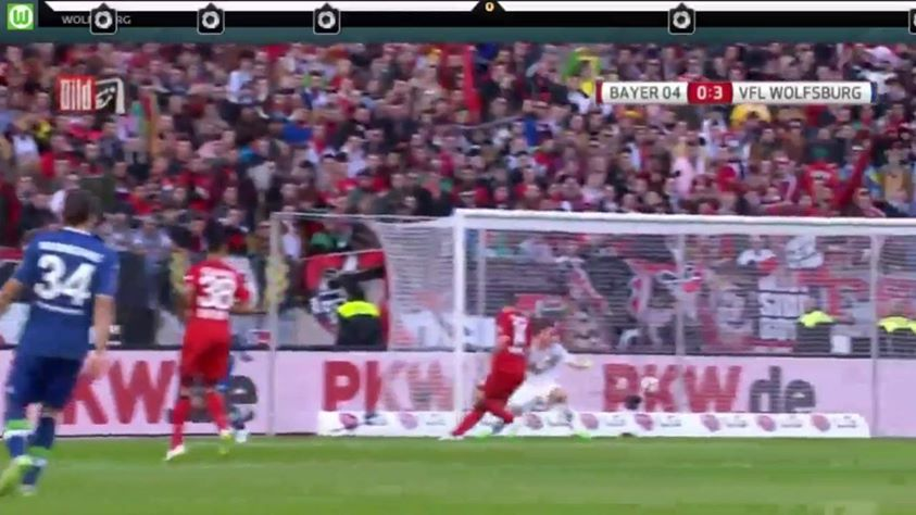 wolfsburg vs bayer leverkusen bundesliga soccer 2015