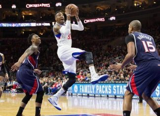 76ers beat atlanta hawks nba 2015