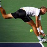 Alexandr Dolgopolov taking on novak djokovic balls for 2015 miami open masters