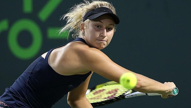 Maria Sharapova knocked out of miami open by dasha gavrilova 2015