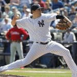 Nathan Eovaldi amazing pitcher for new york yankees baseball 2015