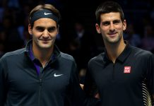Novak Djokovic vs Roger Federer for indian wells finals 2015