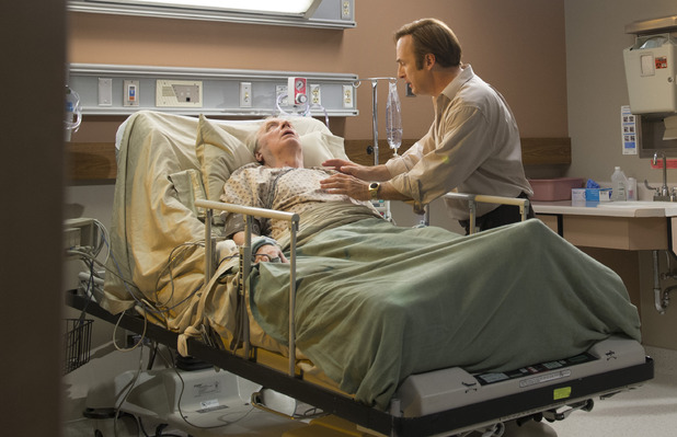 better call saul with brother chuck in hospital 2015